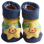Cute Infant Baby Cotton Socks Shoes, 0 to 6 Months - Gifts Are Blue - 4