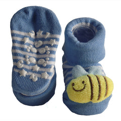 Cute Infant Baby Cotton Socks Shoes, 0 to 6 Months - Gifts Are Blue - 11