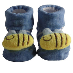 Cute Infant Baby Cotton Socks Shoes, 0 to 6 Months - Gifts Are Blue - 3