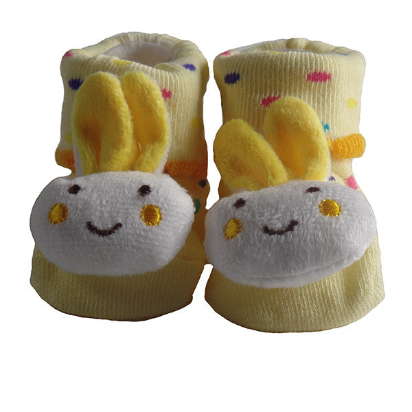Cute Infant Baby Cotton Socks Shoes, 0 to 6 Months - Gifts Are Blue - 5