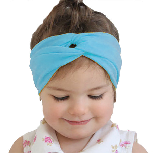 Blue Baby and Kids Headband / Head Scarf