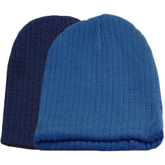 Little Kids Blue Beanie Hat - Gifts Are Blue - 6