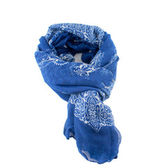 Blue Autumn/Winter Womens Scarf - Gifts Are Blue - 2