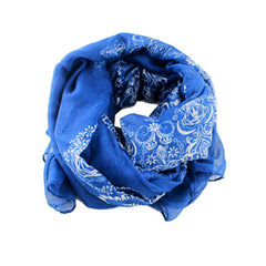 Blue Autumn/Winter Womens Scarf - Gifts Are Blue - 3