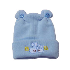 Adorable Blue Baby Hat with Cute Rabbit Design - Gifts Are Blue