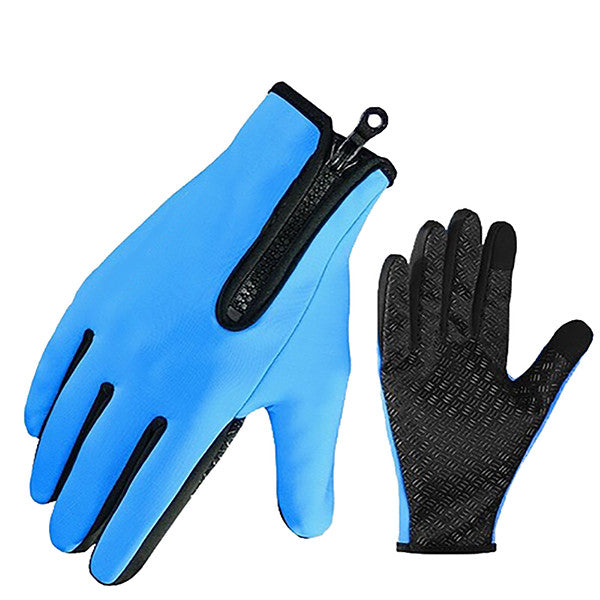 Touchscreen Anti-Slip Waterproof Outdoor Sports Gloves - Gifts Are Blue - 1