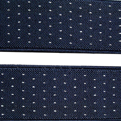 Dark Blue Jacquard Weave Suspenders - Gifts Are Blue - 2