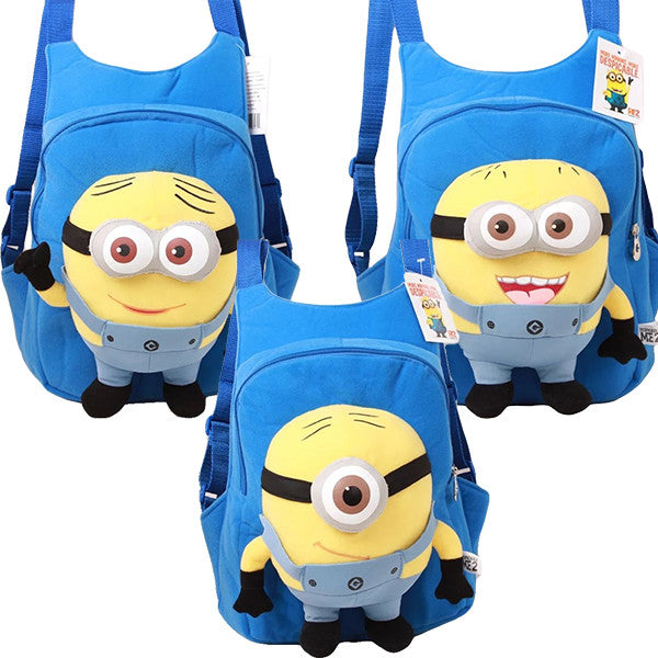 Child 3D Minion Backpack, Pre-School, Ages 2 to 5, Blue