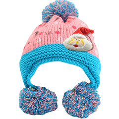 Infant Knitted Ready for Christmas Winter Beanie Hat, 6M to 24M - Gifts Are Blue - 4