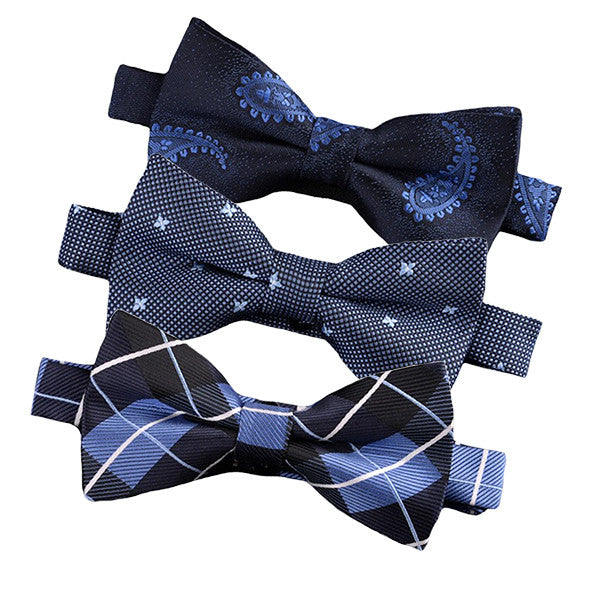 Pre-Tied Fashionable Blue Bow Ties - Gifts Are Blue - 1