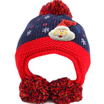 Infant Knitted Ready for Christmas Winter Beanie Hat, 6M to 24M - Gifts Are Blue - 5