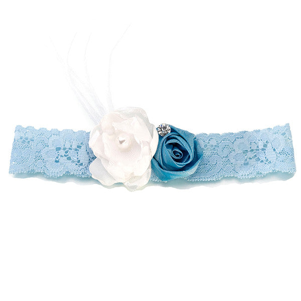 Blue Vintage Lace Wedding Garter