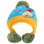 Infant Knitted Ready for Christmas Winter Beanie Hat, 6M to 24M - Gifts Are Blue - 6