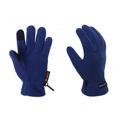 Mens Fleece Style Touch Screen Gloves - Gifts Are Blue - 5