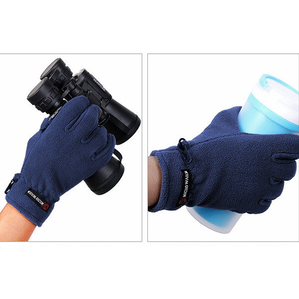 Mens Fleece Style Touch Screen Gloves - Gifts Are Blue - 2