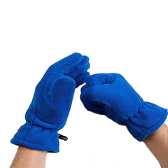 Mens Fleece Style Touch Screen Gloves - Gifts Are Blue - 4