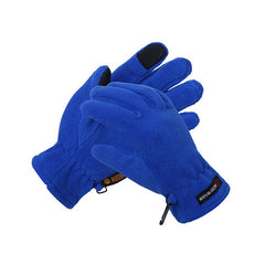 Mens Fleece Style Touch Screen Gloves - Gifts Are Blue - 6