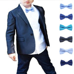 Boys Blue Polka Dot Pre-Tied Bow Ties for Formal Events