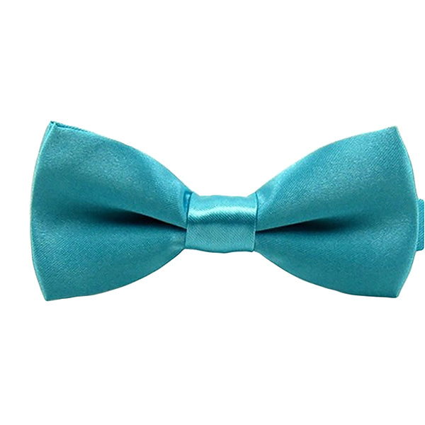 Boys Solid Blue Pre-Tied Bow Ties, 1 to 10 years