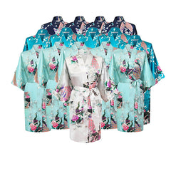 Floral Bridal Party Bride & Bridesmaid Robe Sets, Size 2-20 - Gifts Are Blue - 12