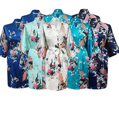 Floral Bridal Party Bride & Bridesmaid Robe Sets, Size 2-20 - Gifts Are Blue - 8
