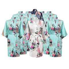 Floral Bridal Party Bride & Bridesmaid Robe Sets, Size 2-20 - Gifts Are Blue - 10