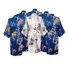 Floral Bridal Party Bride & Bridesmaid Robe Sets, Size 2-20 - Gifts Are Blue - 6