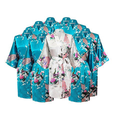 Floral Bridal Party Bride & Bridesmaid Robe Sets, Size 2-20 - Gifts Are Blue - 9