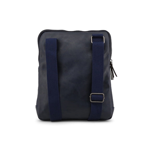 Carrera Jeans Mens Crossbody Bag, Back, Navy Blue
