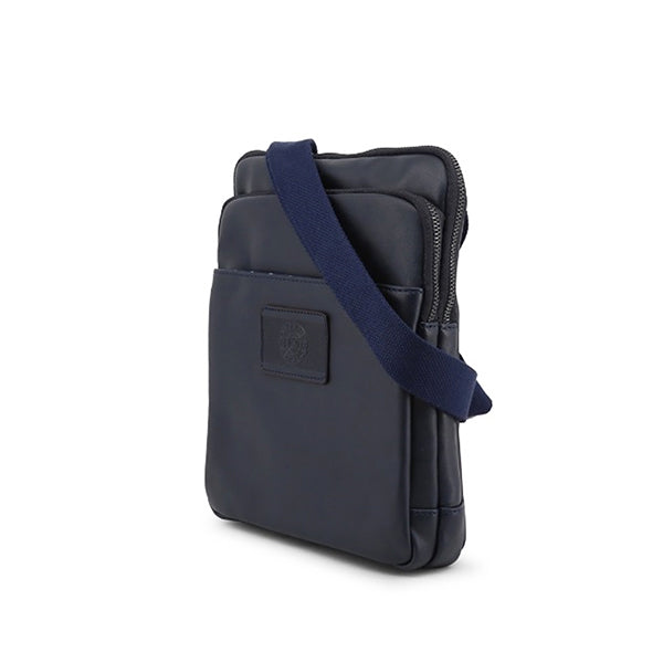 Carrera Jeans Mens Crossbody Bag, Sideview, Navy Blue