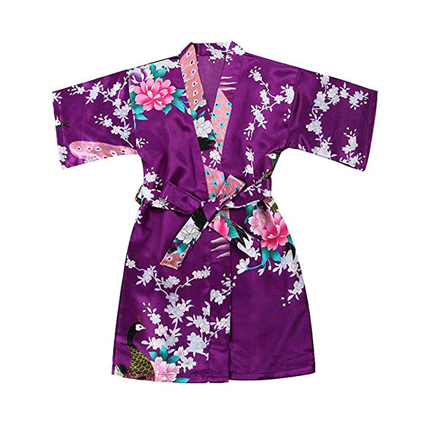 Purple Mommy and Me Robes, Floral, Satin, Child Robes, all SKUs