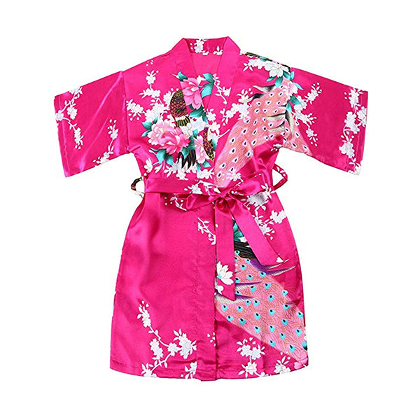 Girls Robes, Floral, Flower Girl, Spa Party, Bright Pink