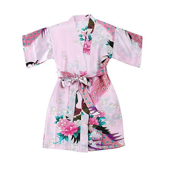 Light Pink Mommy and Me Robes, Floral, Satin, Child Girl Robe, all SKUs