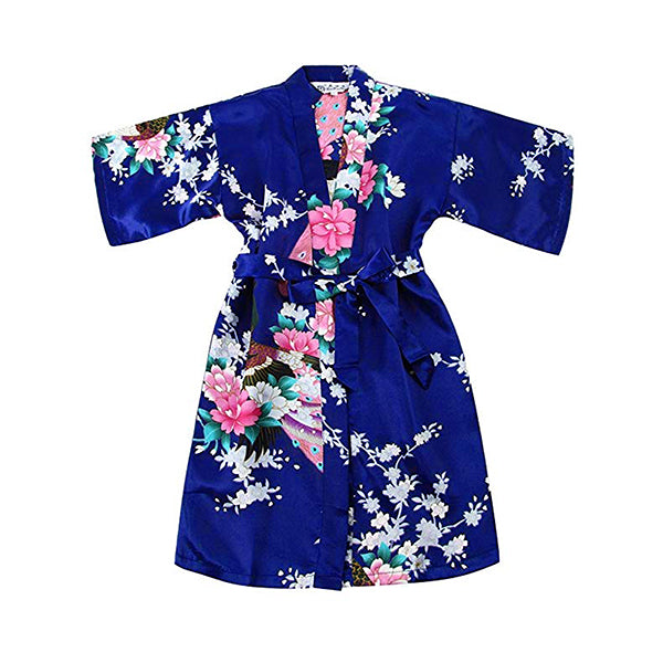 Girls Robes, Floral, Flower Girl, Spa Party, Jewel Blue