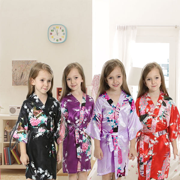Girls Robes, Floral, Satin, Flower Girl, Spa Party, all SKUs