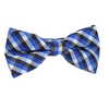 Boys Blue Pre-Tied Bowtie, Stripes, 1 to 10 years