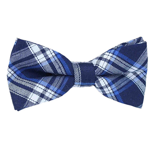 Boys Blue Pre-Tied Bowtie, Stripes, 1 to 10 years - Gifts Are Blue - 1
