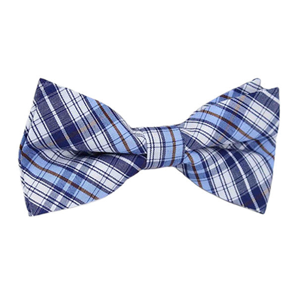 Boys Blue Pre-Tied Bowtie, Stripes, 1 to 10 years - Gifts Are Blue - 4