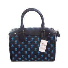 Coach Bennett Badlands Floral Print Midnight Blue Multi Satchel with Shoulder Strap - Gifts Are Blue - 4