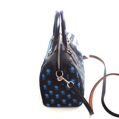 Coach Bennett Badlands Floral Print Midnight Blue Multi Satchel with Shoulder Strap - Gifts Are Blue - 2