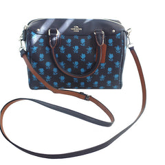 Coach Bennett Badlands Floral Print Midnight Blue Multi Satchel with Shoulder Strap - Gifts Are Blue - 3