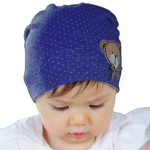 Baby and Toddler Blue Beanie Hat, Model, Navy Blue