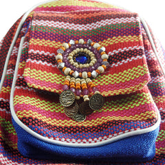 Vintage Embroidered Mini Boho Style Backpacks