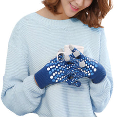 Stylish Touch Screen Gloves - Gifts Are Blue - 1