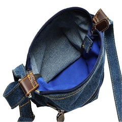 Retro Dark Blue Denim Women's Handbag - Gifts Are Blue - 3