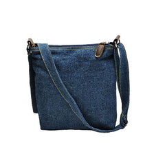 Retro Dark Blue Denim Women's Handbag - Gifts Are Blue - 6