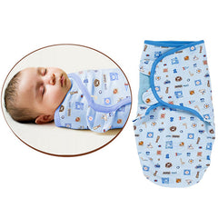 SwaddleMe Cotton Newborn Infant Baby Wrap Sleepsack - Gifts Are Blue - 1