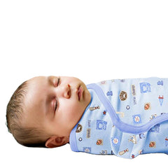 SwaddleMe Cotton Newborn Infant Baby Wrap Sleepsack - Gifts Are Blue - 2