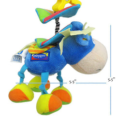 Bed Mobile or Stroller Toy Donkey Rattle for Baby - Gifts Are Blue - 4