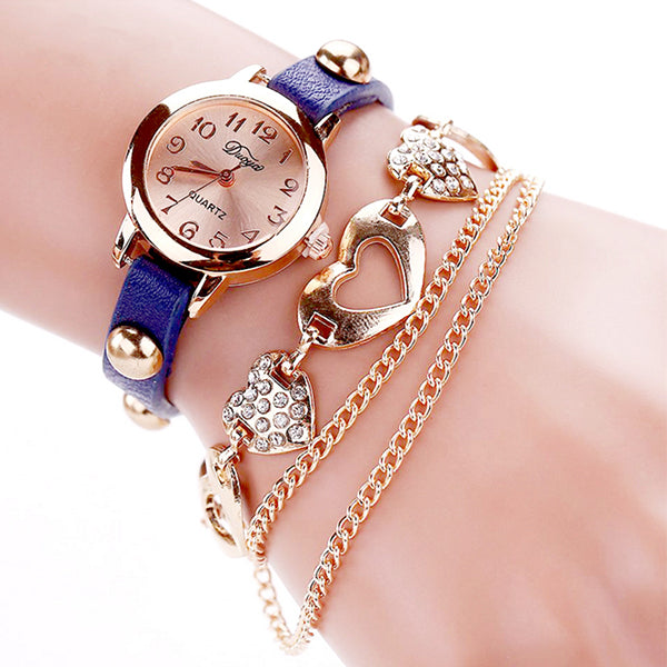 Misses Heart Bracelet Watch with Gift Box